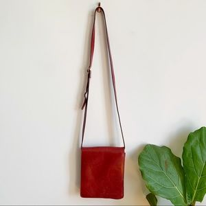 Aldo Red Leather Crossbody Bag Made in Canada